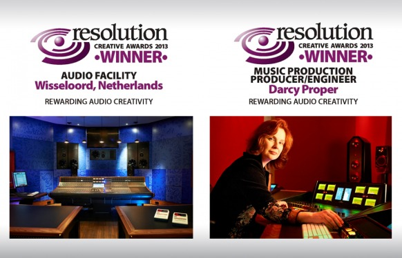 Resolution Award voor Wisseloord Studio's en Darcy Proper